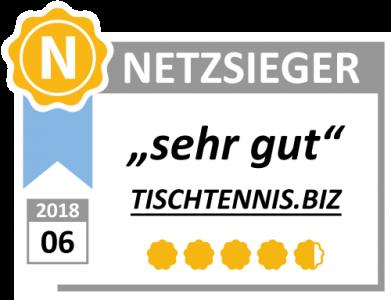 Tischtennis.biz von Netzsieger ausgezeichnet