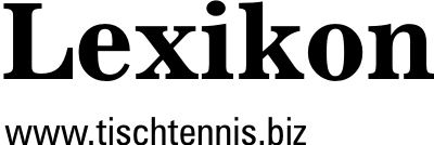 Tischtennis Lexikon