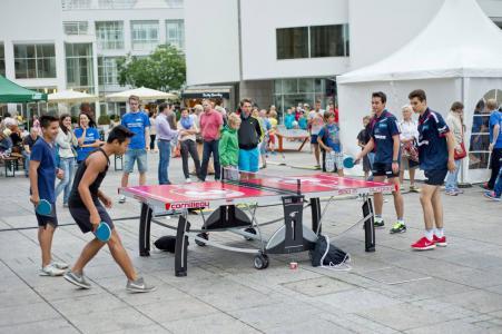 Tischtennis Open Air 20.08.2016 in Ochsenhausen