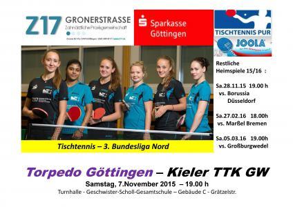 Torpedo Göttingen Damen in der 3. Bundesliga