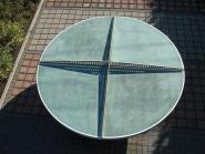 Runde Tischtennisplatte TTpur� aus Beton