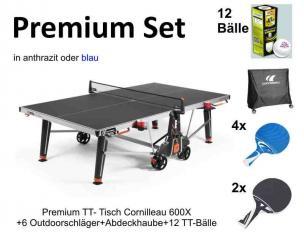 Premium Set Cornilleau 600X Outdoor Tischtennisplatte