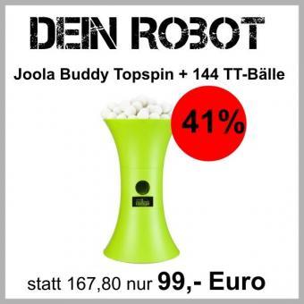 Joola Buddy Topspin + 144 Tischtennisbälle