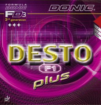 Donic Desto F1 plus schwarz | 1,8 mm