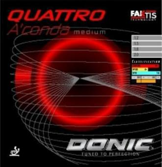 Donic Quattro Medium rot | 1,2 mm