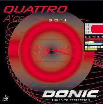 Donic Quattro Soft schwarz | 1,2 mm