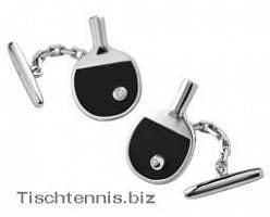 Manschettenknopf als Tischtennisschläger