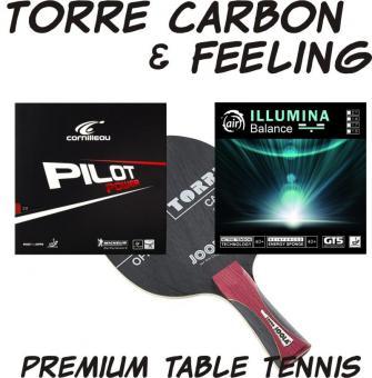 Tischtennisschläger Torre Carbon und Feeling