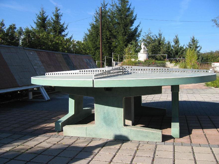 Runde Tischtennisplatte