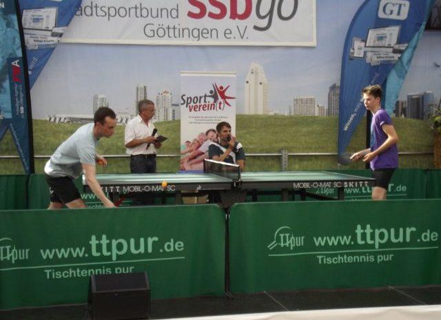Tischtennis auf der Sportschau im Kaufpark