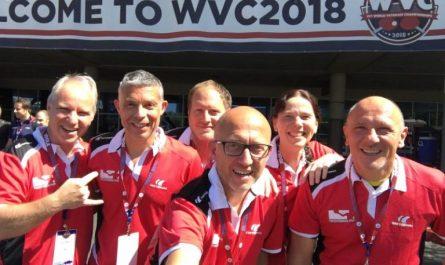 Peter Wode und sein Team bei den WVC 2018