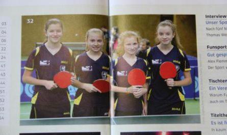 Tischtennis-Spielerinnen des Bezirksverbandes Braunschweig
