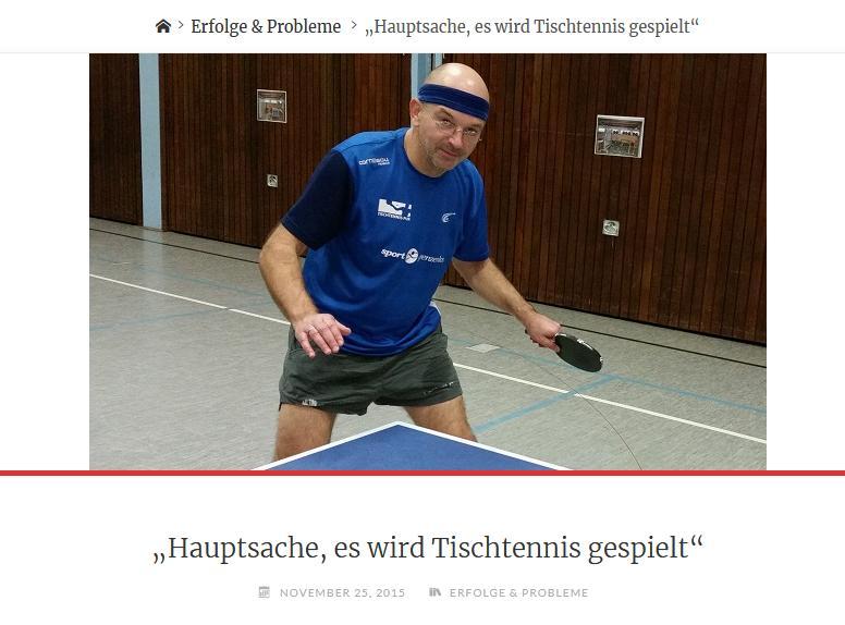 Hauptsache es wird Tischtennis gespielt / Interview mit Markus Thies