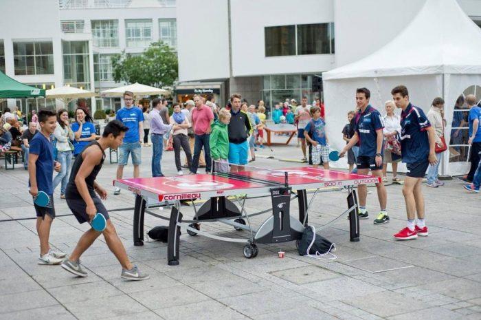 Tischtennis Open Air in Ochsenhausen