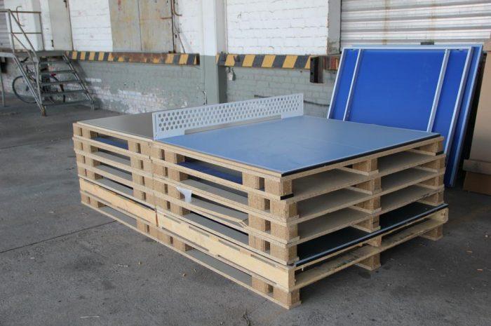 Tischtennisplatte selber gebaut