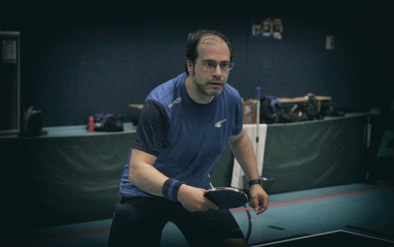 Markus Biedermann beim Tischtennis